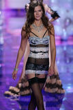 LONDON, ENGLAND - DECEMBER 02: Victoria's Secret model Kasia Struss walks the runway Royalty Free Stock Photography