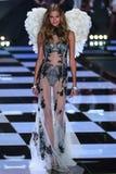 LONDON, ENGLAND - DECEMBER 02: Victoria's Secret model Kate Grigorieva walks the runway Royalty Free Stock Photos