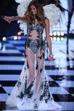 LONDON, ENGLAND - DECEMBER 02: Victoria's Secret model Kate Grigorieva walks the runway Royalty Free Stock Image
