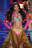 LONDON, ENGLAND - DECEMBER 02: Victoria's Secret model Kelly Gale walks the runway Stock Photos