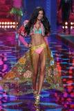 LONDON, ENGLAND - DECEMBER 02: Victoria's Secret model Kelly Gale walks the runway Stock Image
