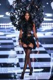 LONDON, ENGLAND - DECEMBER 02: Victoria's Secret model  Lais Ribeiro walks the runway Stock Images