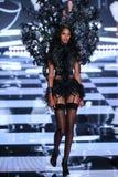 LONDON, ENGLAND - DECEMBER 02: Victoria's Secret model  Lais Ribeiro walks the runway Royalty Free Stock Photo