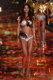 LONDON, ENGLAND - DECEMBER 02: Victoria's Secret model Lily Aldridge walks the runway Stock Photo