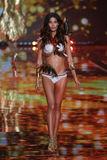 LONDON, ENGLAND - DECEMBER 02: Victoria's Secret model Lily Aldridge walks the runway Stock Image