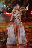 LONDON, ENGLAND - DECEMBER 02: Victoria's Secret model Lily Donaldson walks the runway Royalty Free Stock Photo