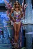 LONDON, ENGLAND - DECEMBER 02: Victoria's Secret model Lily Donaldson walks the runway Royalty Free Stock Photo