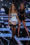 LONDON, ENGLAND - DECEMBER 02: Victoria's Secret model Magdalena Frackowiak walks the runway Stock Image