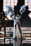 LONDON, ENGLAND - DECEMBER 02: Victoria's Secret model Maria Borges walks the runway Stock Photos