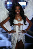 LONDON, ENGLAND - DECEMBER 02: Victoria's Secret model Maria Borges walks the runway Stock Images