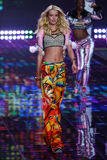 LONDON, ENGLAND - DECEMBER 02: Victoria's Secret model Maud Welzen walks the runway Royalty Free Stock Photo