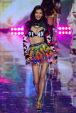 LONDON, ENGLAND - DECEMBER 02: Victoria's Secret model Ming Xi walks the runway Royalty Free Stock Photography