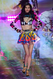 LONDON, ENGLAND - DECEMBER 02: Victoria's Secret model Ming Xi walks the runway Royalty Free Stock Images