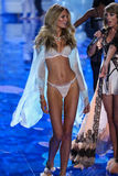 LONDON, ENGLAND - DECEMBER 02: Victoria's Secret model Romee Strijd walks the runway Stock Photography