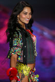 LONDON, ENGLAND - DECEMBER 02: Victoria's Secret model Shanina Shaik walks the runway Stock Photography