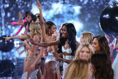 LONDON, ENGLAND - DECEMBER 02: Victoria's Secret models walk the runway Royalty Free Stock Image