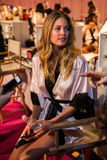 LONDON, ENGLAND - DECEMBER 02: Victoria Secret's model Doutzen Kroes is seen backstage Stock Images