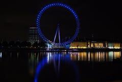 London, England die BRITISCHEN Skyline am Abend Stockfoto
