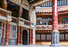 London. England - January 30, 2012:  The Shakespeare's  Globe theatre rebuilded with the same materials and tecniques of the original Stock Photography