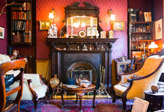 London. England - January 27, 2012: The Sherlock Holmes house and museum in Baker street Stock Image