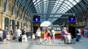 LONDON ENGLAND - JULI 05, 2015: St Pancras stationsinternational Royaltyfria Bilder
