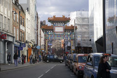LONDON, ENGLAND - JULY 16, 2016. Chinatown Chinatown features many restaurants, bakeries and souvenir shops near Gerrard Street in. The Soho area Royalty Free Stock Photos