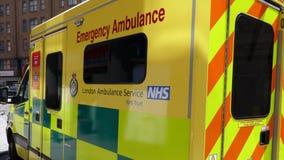 London, England - July 3 2018: A London ambulance standing by in Paddington, London royalty free stock photo