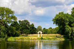 Hyde Park, one of the largest parks in London. LONDON, ENGLAND - JULY 23, 2016: Nature of the Hyde Park, one of the largest parks in London, and one of the Royal Stock Images