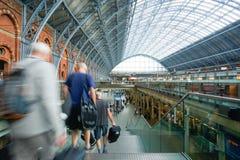 LONDON,ENGLAND - JULY 05, 2015: St Pancras Station international Royalty Free Stock Photo