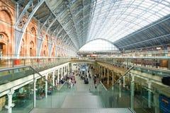 LONDON,ENGLAND - JULY 05, 2015: St Pancras Station international stock photo