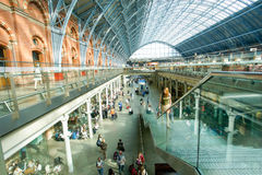LONDON,ENGLAND - JULY 05, 2015: St Pancras Station international Stock Images