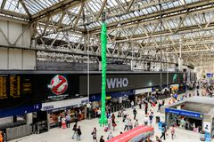 Waterloo station, a central London railway terminus royalty free stock photography