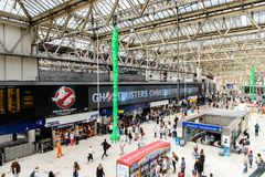 Waterloo station, a central London railway terminus royalty free stock photos