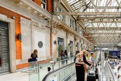 Waterloo station, a central London railway terminus stock photography
