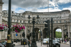 LONDON, ENGLAND - JUNE 16 2016: Admiralty Arch, London, England, Great Britain Stock Photography