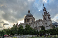 LONDON, ENGLAND - JUNE 17 2016: Amazing view of St. Paul Cathedral in London Royalty Free Stock Image