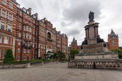 LONDON, ENGLAND - JUNE 18 2016: Amazing view of typical English building, London. Great Britain Stock Image