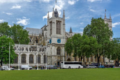 LONDON, ENGLAND - JUNE 15 2016: Bell tower of  Church of St. Peter at Westminster, London, Great Britain Stock Images