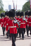 London, England - June 01, 2015: British Royal guards perform th Royalty Free Stock Images