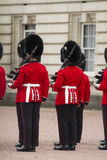 London, England - June 01, 2015: British Royal guards perform th Royalty Free Stock Photography