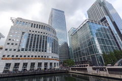 LONDON, ENGLAND - JUNE 17 2016: Business building and skyscraper in Canary Wharf, London, Great Britain Stock Image