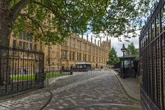 Houses of Parliament at Westminster, London, England, Great Britain. LONDON, ENGLAND - JUNE 15 2016: Houses of Parliament at Westminster, London, England, Great Royalty Free Stock Photo
