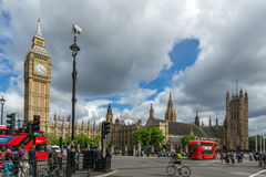 LONDON, ENGLAND - JUNE 16 2016: Houses of Parliament, Westminster Palace, London, England Stock Photography