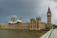 LONDON, ENGLAND - JUNE 16 2016: Houses of Parliament, Westminster Palace, London, England Royalty Free Stock Photos