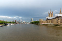 LONDON, ENGLAND - JUNE 16 2016: Houses of Parliament, Westminster Palace, London, England Royalty Free Stock Photo