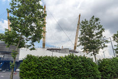 LONDON, ENGLAND - JUNE 17 2016:  The O2 Arena at Greenwich, London, Great Britain. LONDON, ENGLAND - JUNE 17 2016:  The O2 Arena at Greenwich, London, England Stock Photos