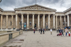LONDON, ENGLAND - JUNE 16 2016: Outside view of British Museum, City of London, England Stock Images