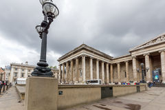 LONDON, ENGLAND - JUNE 16 2016: Outside view of British Museum, City of London, England Royalty Free Stock Image