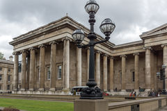 LONDON, ENGLAND - JUNE 16 2016: Outside view of British Museum, City of London, England Royalty Free Stock Images