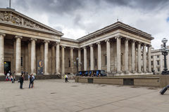 LONDON, ENGLAND - JUNE 16 2016: Outside view of British Museum, City of London, England Stock Photography